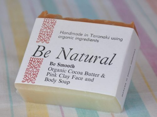 pink clay and cocoa butter natural soap