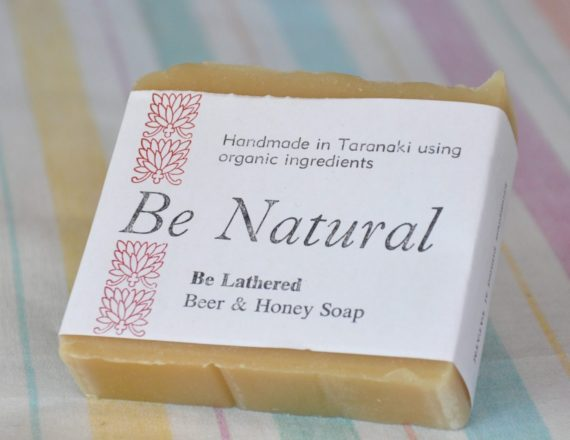 handmade organic soap beer honey
