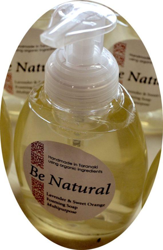 natural liquid soap foaming lavender sweet orange