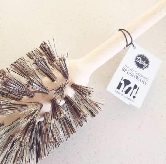 wooden toilet brush