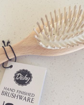 Natural wooden hairbrush